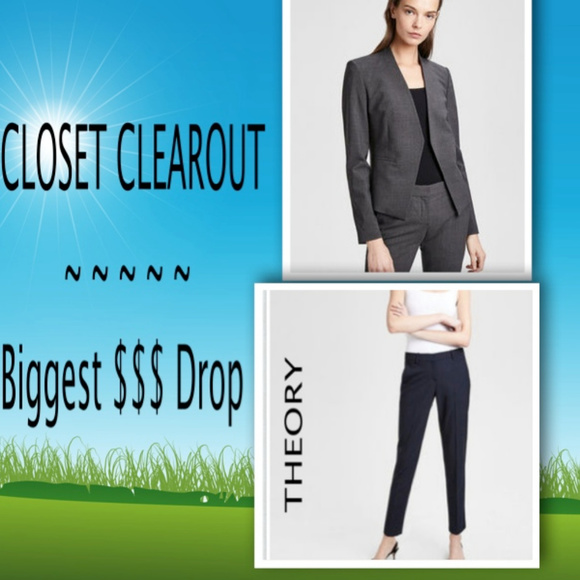 f28563c08b9 Theory Pants   Womans Stretch Wool Classic Crop Pant   Poshmark